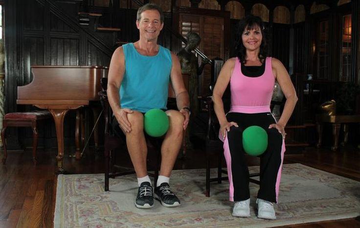 Pelvic floor ball squeeze