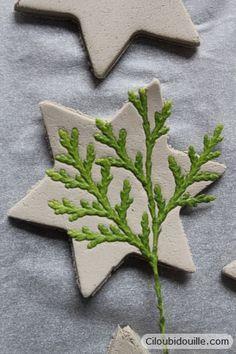 Décorations en argile pour sapins de Noël