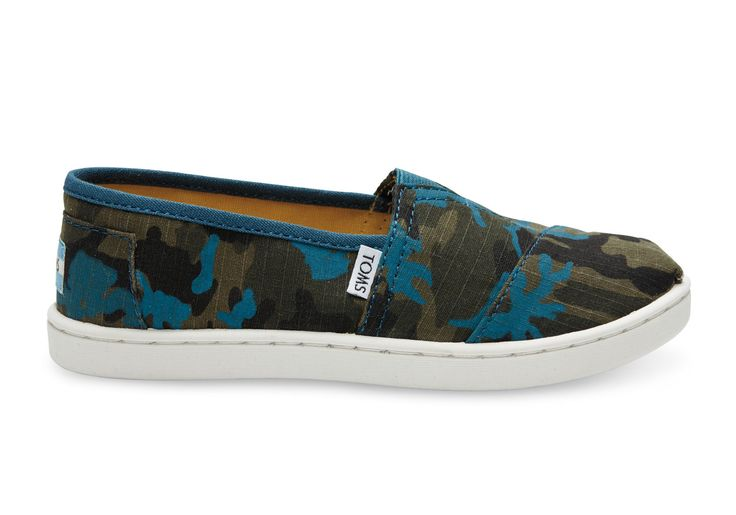 Camo Printed Canvas Youth Classics | TOMS