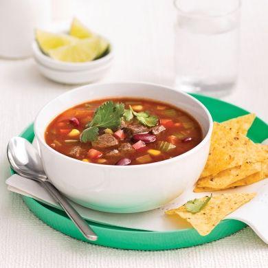 Soupe mexicaine au boeuf - Recettes - Cuisine et nutrition - Pratico Pratique