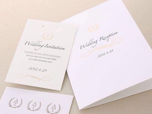 海外の招待状をイメージ(お客様のデザイン)|結婚式招待状・席次表|ウイングド・ウィールオンラインストア