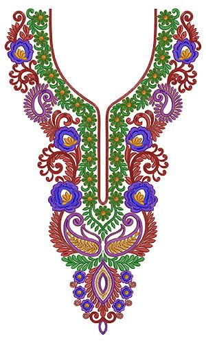 10257 Neck Embroidery Design