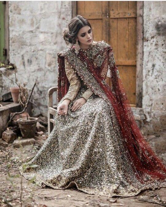 Pakistani Bridal Wear: Pinterest: @nur Zulaikha #PakistaniDresses #Lehenga