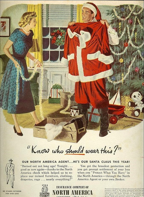 Insurance Company of North AmericaChristmas Ads, America Ads, Time Ads, Vintage Christmas, Santa, Merry Time, Christmas Theme, Merry Christmas, Vintage Advertising