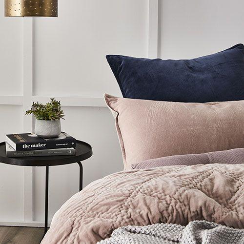 Cotton Velvet Coverlet Pink Bedroom Ideas Blush