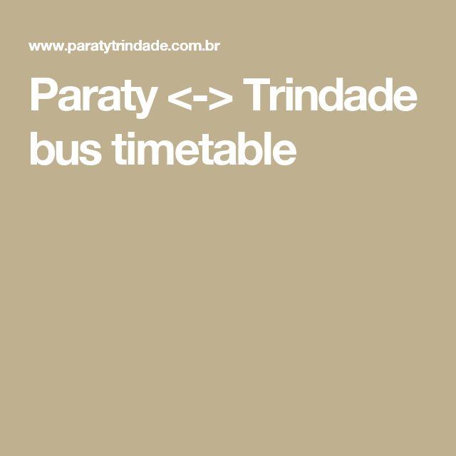 Paraty <-> Trindade bus timetable