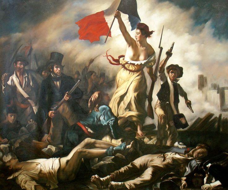 Eugène Delacroix, La liberté guidant le peuple, 1830