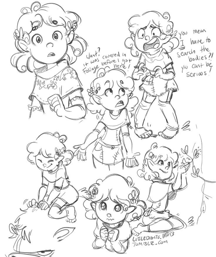 Some warmups of my D&D character Lady Sugarsnap (halfling druid!), since I'm starting a new game where my friend Pat is the DM. Looking forward to exploring the town of Ja Rule. - Picmia