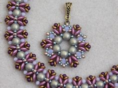 Beaded Pendant and Bracelet Tutorial / Pattern / Instruction by poetryinbeads. $5.95USD/each