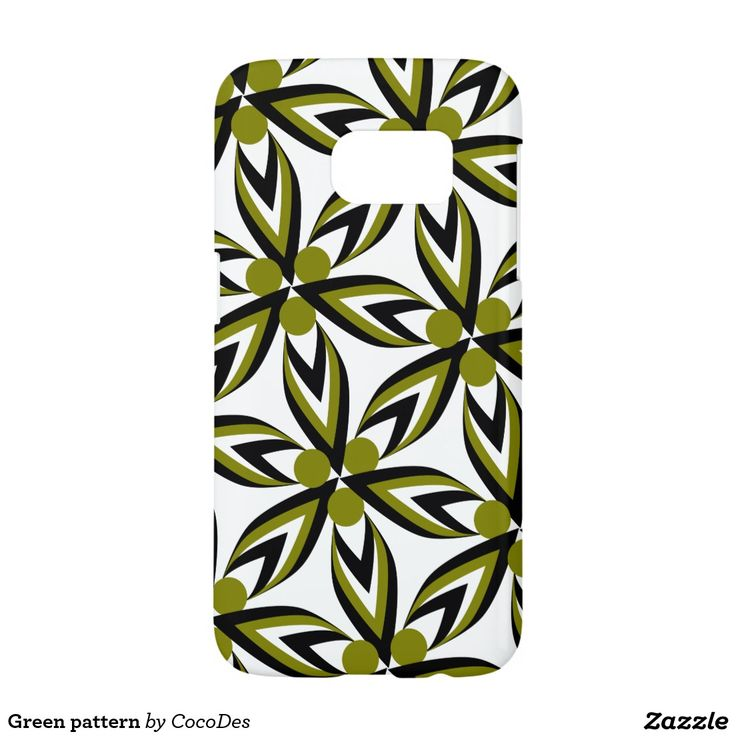 Green #pattern #samsung #galaxy s7 case #zazzle http://www.zazzle.com/green_pattern_samsung_galaxy_s7_case-179136039796594815