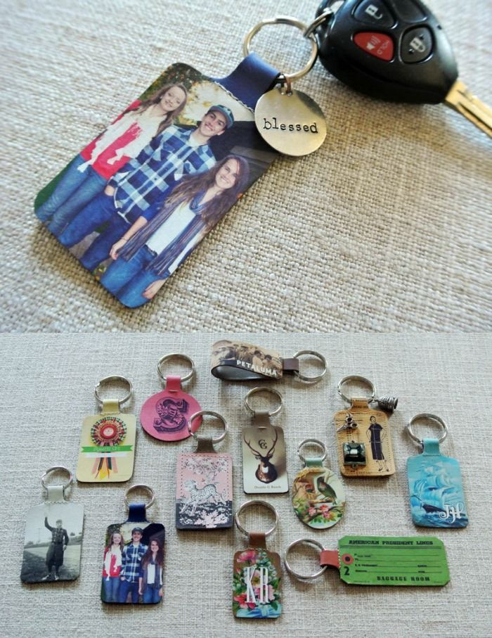 How to create a custom keychain using leather and your printer - these make fun personalized gifts!