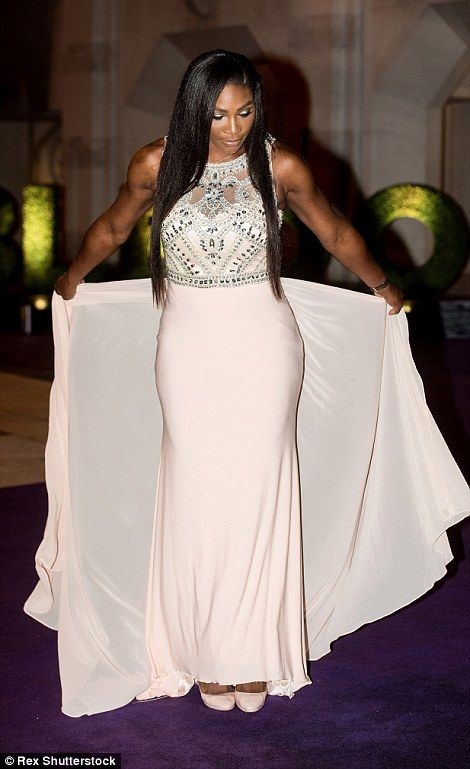 Serena Williams proved her body-shaming critics wrong tonight as she stepped out to show off her enviable figure at the Wimbledon Champions' Dinner
