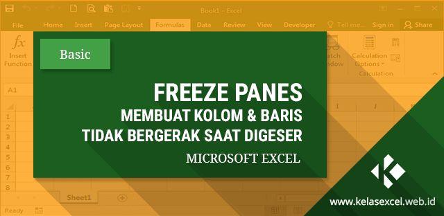 Cara menggunakan fitur Freeze Panes pada microsoft Excel untuk mengunci satu atau lebih dari satu kolom dan baris saat digeser secara bersamaan.