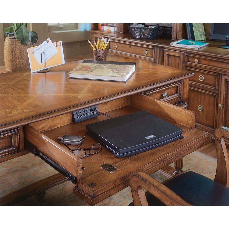 Hooker Furniture Brookhaven Keyboard Tray Writing Desk & Reviews   Wayfair