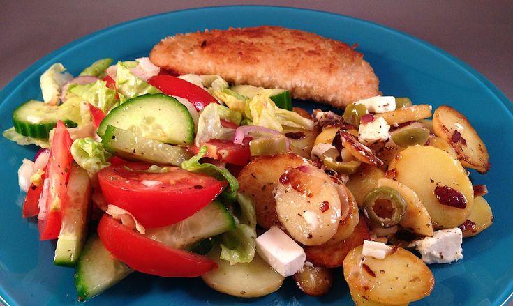 recept voor gebakken Aardappelen op Griekse wijze | Wessalicious