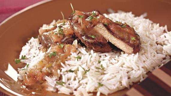 Свинина под соусом из ревеня. Пошаговый рецепт с фото на Gastronom.ru