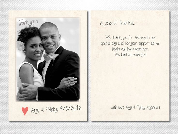 wedding picture thank you cards