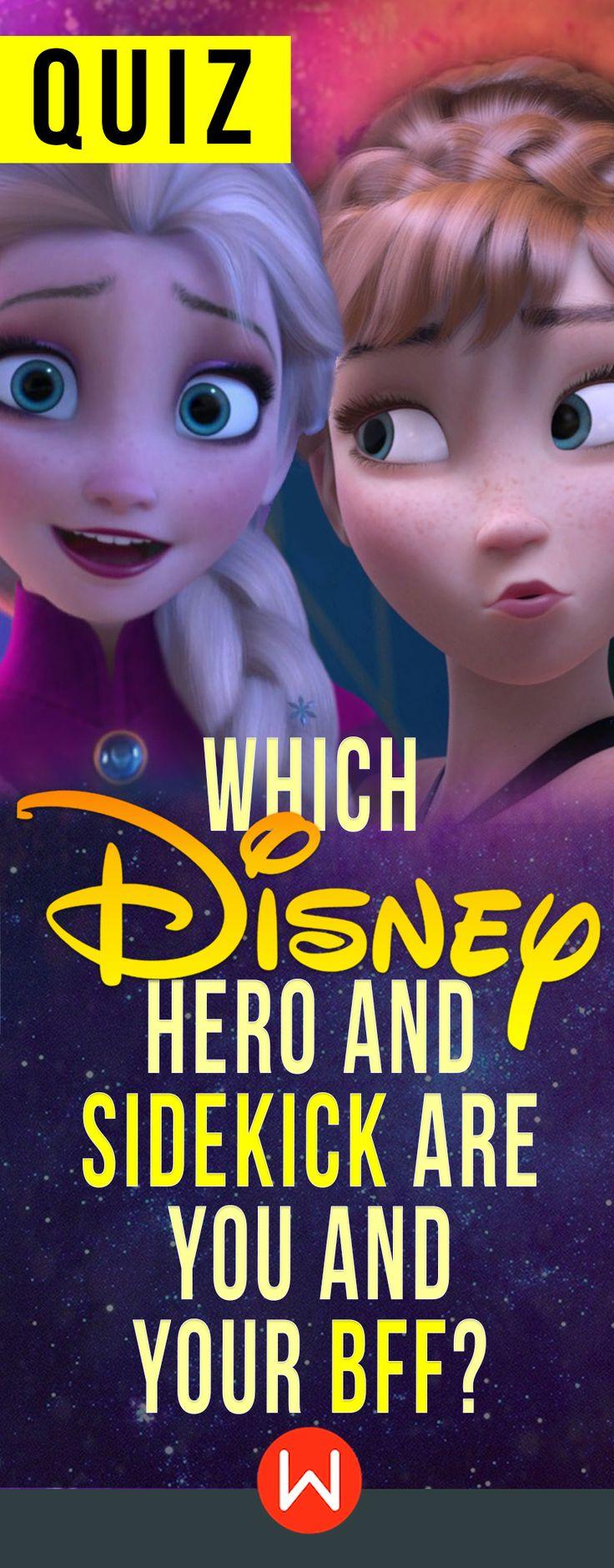 Disney Quiz: Which is your hero and sidekick are you and your BFF? Disney personality quiz. Disney test. Buzzfeed quizzes, playbuzz quiz, Disney BFF quiz.