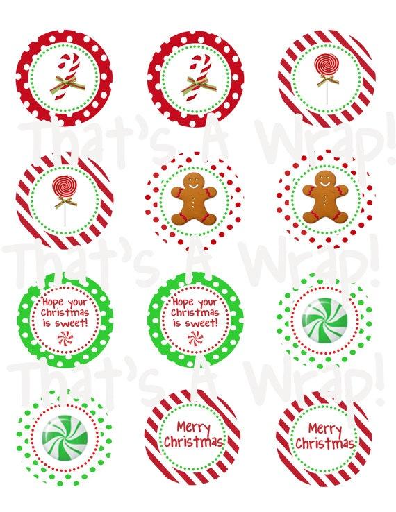 Sweet Christmas Holiday Party Circles DIY Printable von thatsawrap2, $10,00