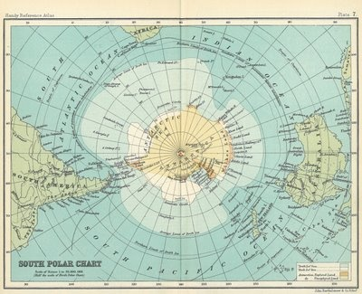 Antarctica maps are so beautiful - get one of Dad's as art for the guest room?