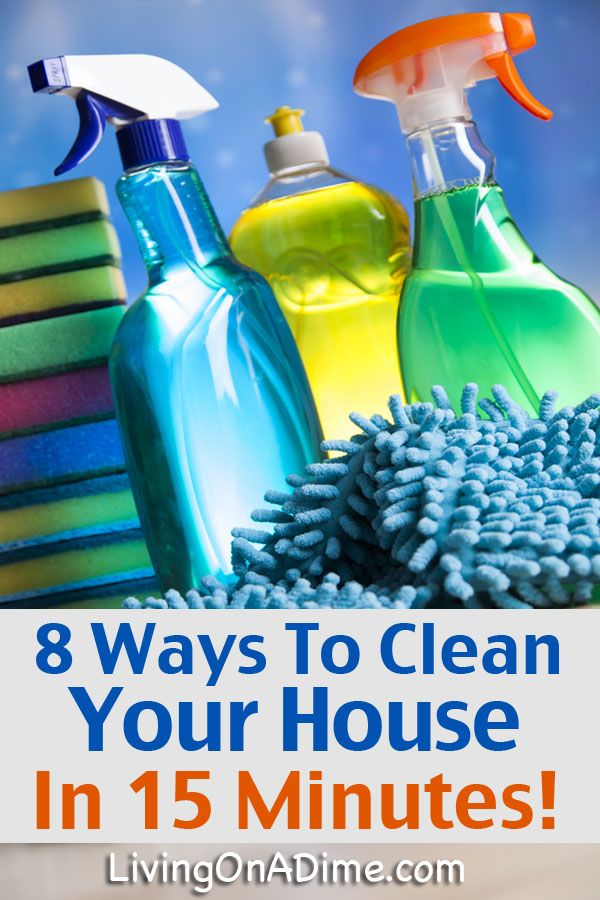 8 Tips To Clean Your House In 15 Minutes