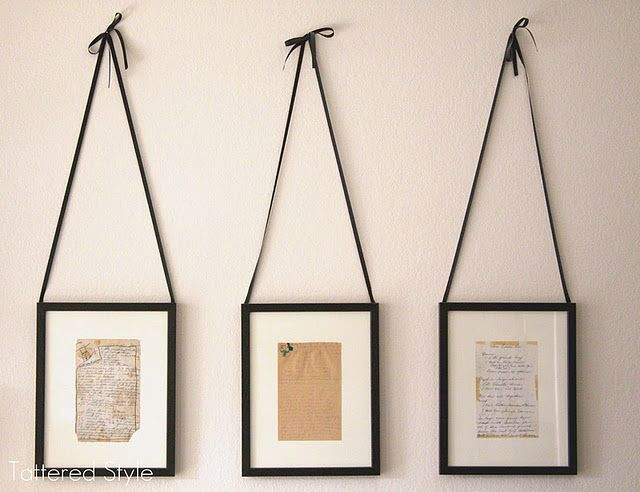 Love these! Framed Handwritten Recipes - Tattered Style