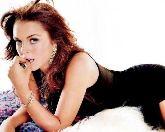 Capelli castano rossi Lindsay Lohan