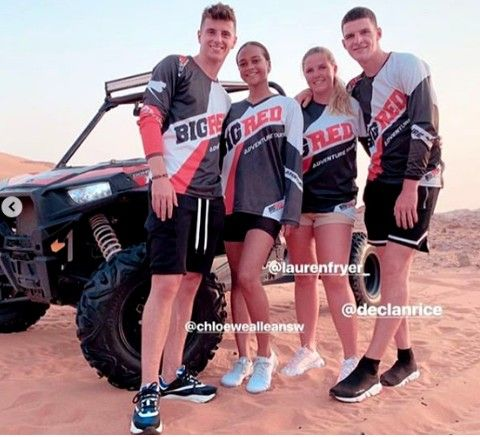 Mason Mount Declan Rice out on double date with ...
