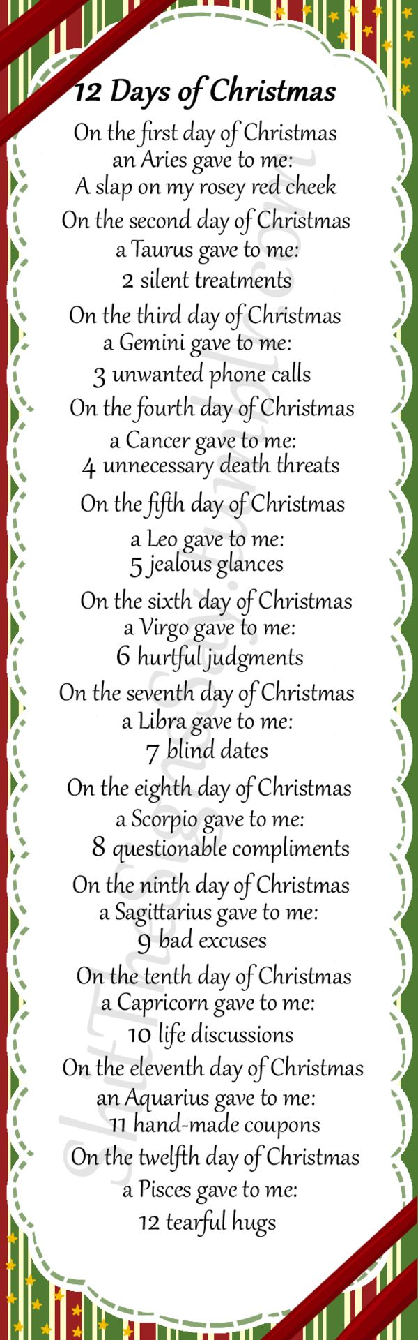 Twelve Days of Christmas with Lyrics Christmas Carol ...