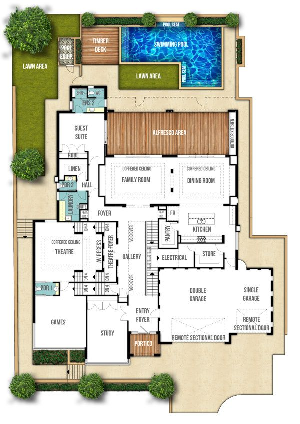 58 best in law plans images on pinterest house floor for Split level plans