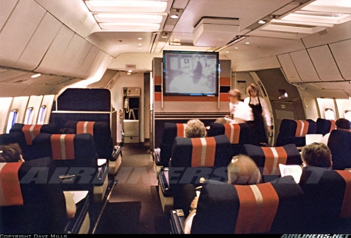 Convair 880 (22-1) aircraft picture. Coach cabin of N803TW ...  Twa 747 Cabin