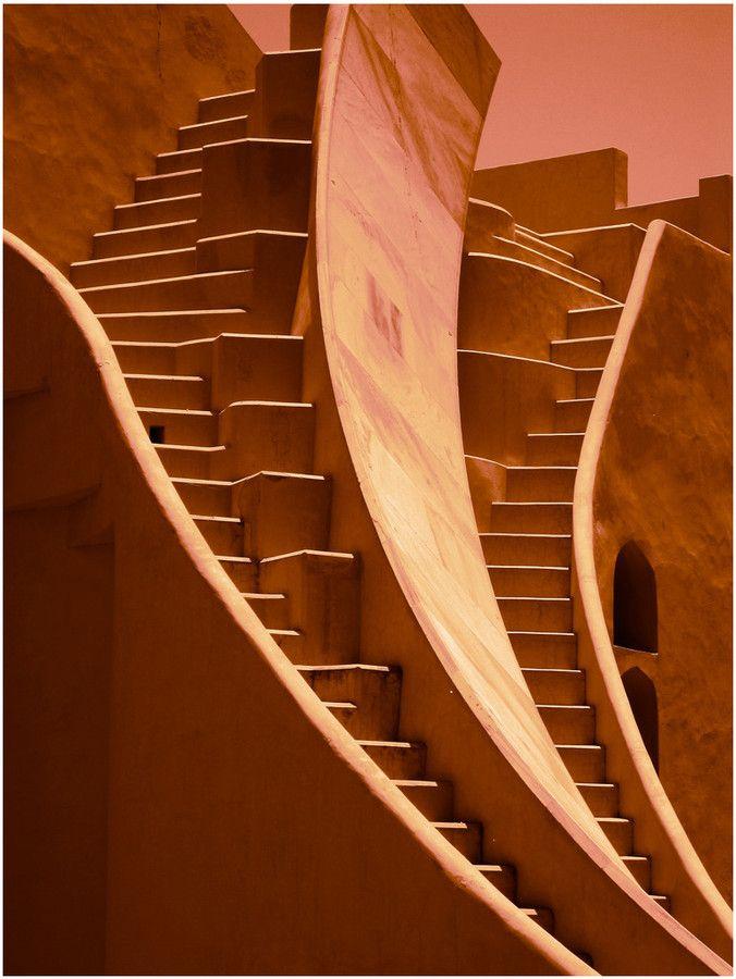 Jantar Mantar observatory, in Jaipur, India