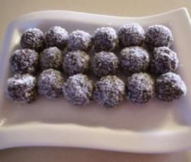 Chocolate balls - ok on gaps when you can tolerate cocoa