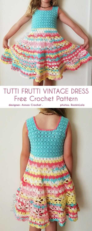 Little Girl Vintage Dress Free Crochet Pattern Juliette