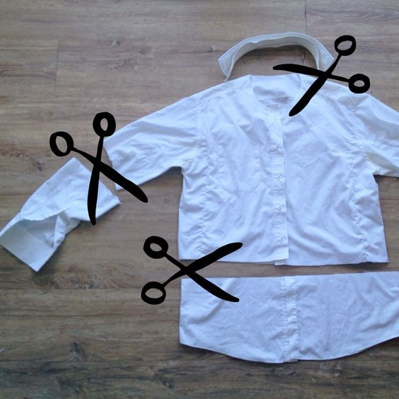Up-cycling daddy's old shirt in to a doctor's coat for dressing up – The Bear…