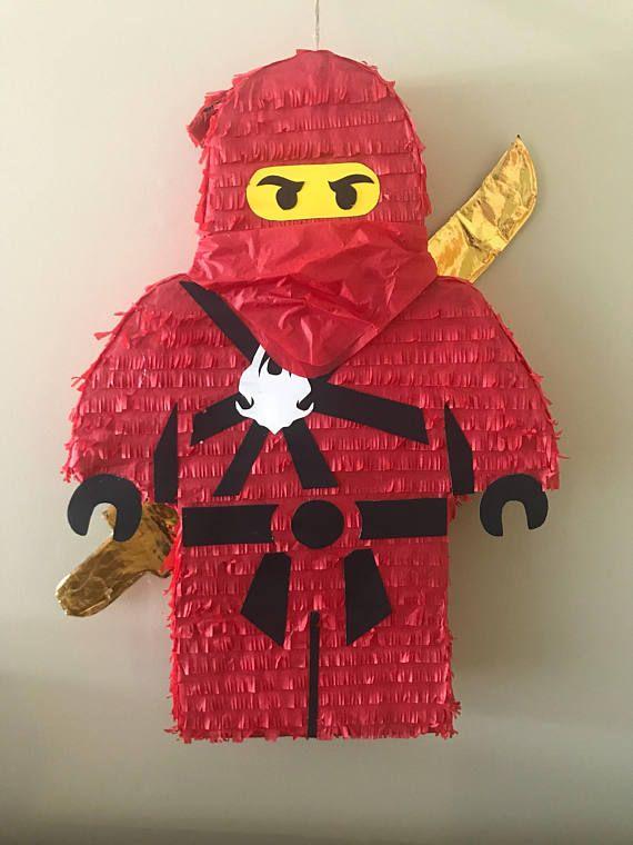 Handmade Red Ninja Pinata