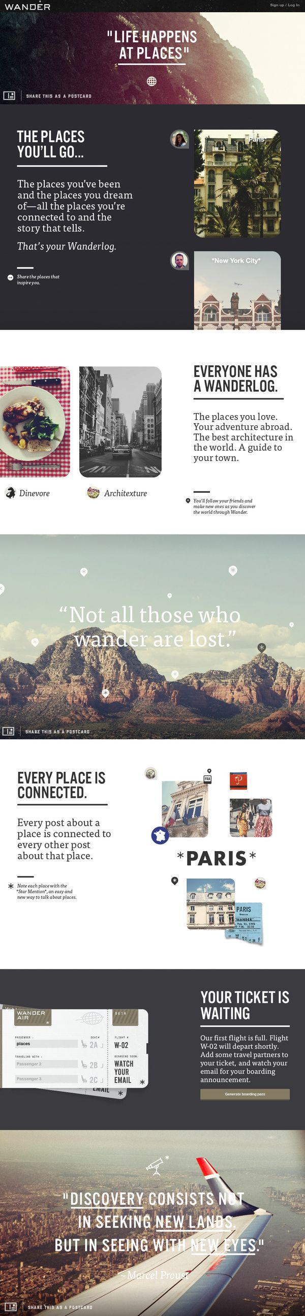 Wander Product Summary Page by Wander , via Behance