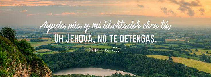 """Ayuda mía - Salmos 70:5 """"Yo estoy afligido y menesteroso; Apresúrate a mí, oh Dios. Ayuda mía y mi libertador eres tú; Oh Jehová, no te detengas."""""""
