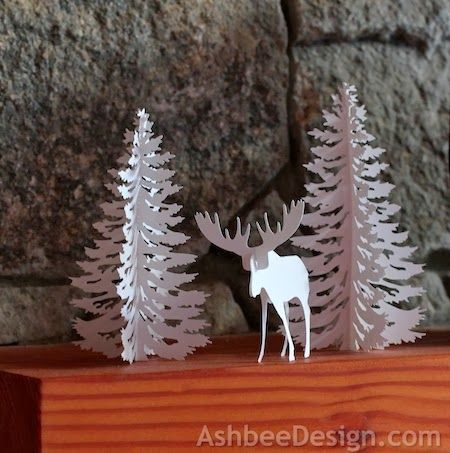 Ashbee Design Silhouette Projects: Moose and Tree • Silhouette Tutorial