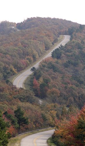 The Talimena Scenic Drive is a National Scenic Byway in southeastern Oklahoma and extreme western Arkansas spanning a 54.0-mile (86.9 km) stretch of Oklahoma State Highway 1 (SH-1) and Arkansas Highway 88 (Hwy 88) from Talihina, Oklahoma, to Mena, Arkansas.