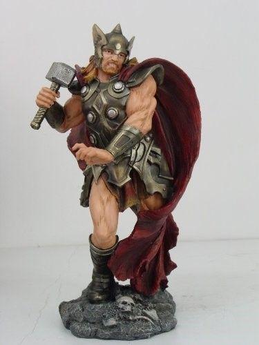13 75 Inch Thor Mythological Norse God Of Thunder Statue Figurine White Norse Norse Mythology Norse Vikings