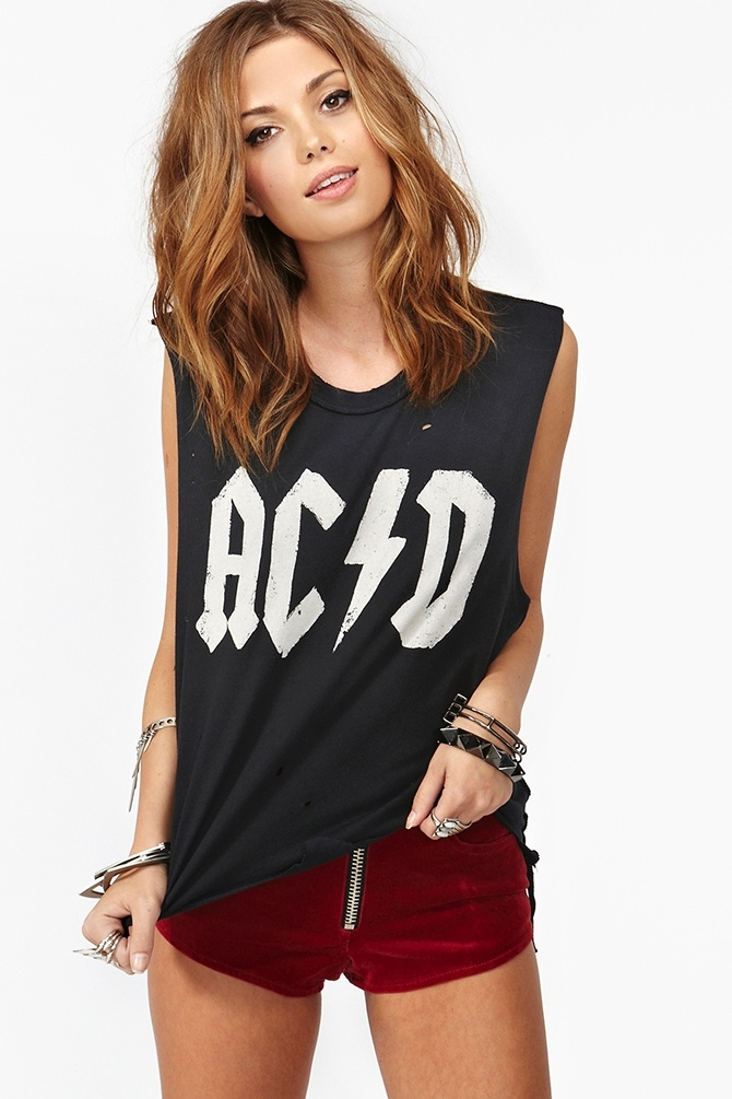 Acid Muscle Tee: Graphics Prints Tees, Acid Muscle, Diy Summer, Graphics Tees, Style Inspiration, Acdc Songs, Diy Muscle Tees, Cute Hair, Girls Muscle Tees Summer