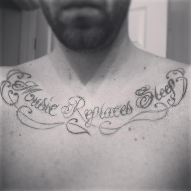 Music Replaces Sleep #tattoos #music