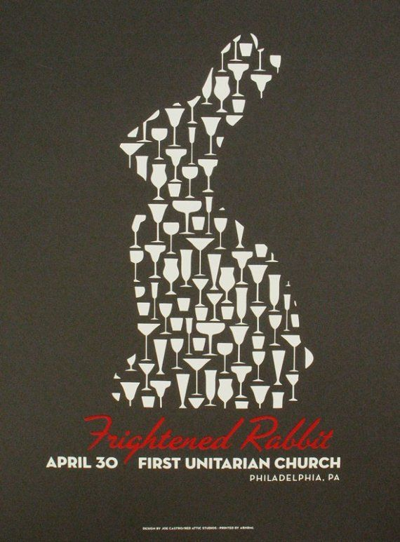 Frightened Rabbit - Apparently its a Scottish Band! Nice poster.