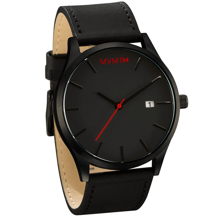 Black / Black Leather | MVMT Watches