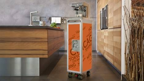 re-purposed airline carts, it's an awesome addition to any home. Preferably one that could appear in a Dwell feature and later end up on unhappy hipsters