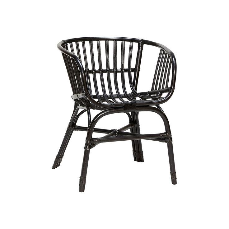 2 stk. Rattan stol sort fra Hübsch Interior. Hurtig leveringstid. 14 dages fuld returret. På lager. Fri fragt ved køb over 499,-