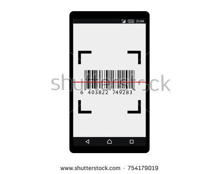 Barcode label scan with mobile .Interface concept