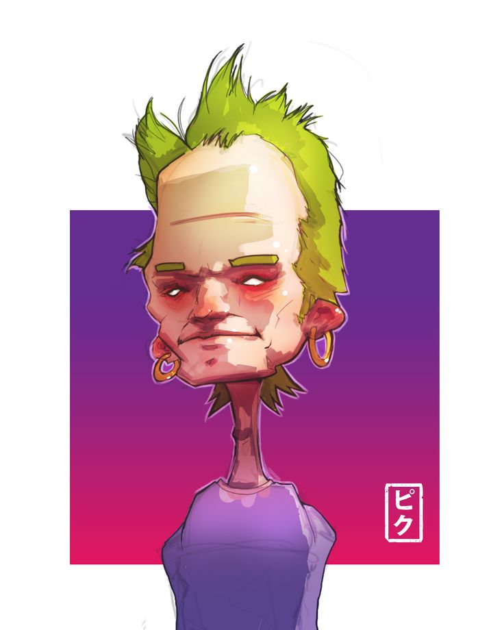 https://youtu.be/N0dnXHQ9xM4 Speedpaint punk  Total time: 1 hours and 30 minutes Program: Photoshop CC, Quick Time Player and iMovie Tablet: Intuous 4