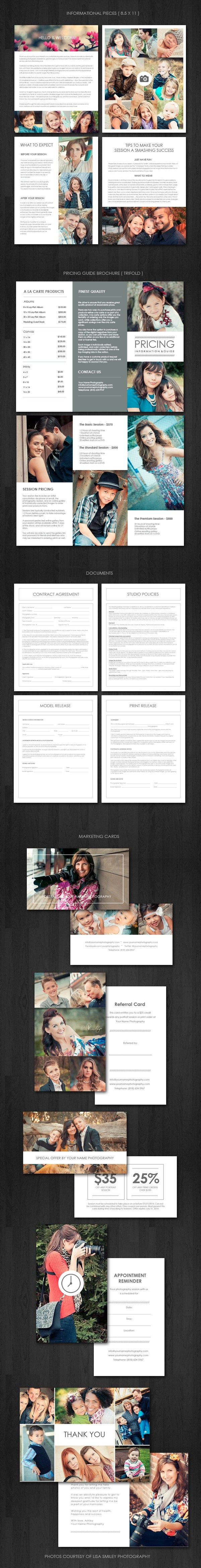 The Ultimate Portrait Photography Marketing Kit - Welcome Packet Templates -